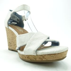 Toms Women Wedge Sandal Heel Shoes R7S4-1